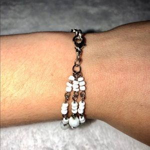 destineekc Jewelry - 💎BOGO FREE! Three white layered beaded bracelet💎